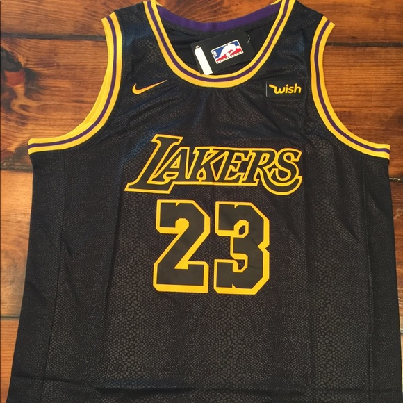 9ba9afe72 Lebron James 23 Mamba Jersey LA Lakers